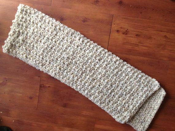 Mens Crochet Wool Scarf