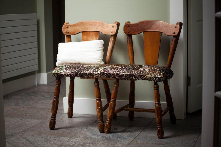 Two-chair bench//Repurposed chairs
