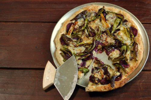 Sweet Potato and Fontina Pizza with Shishito or Padron Peppers