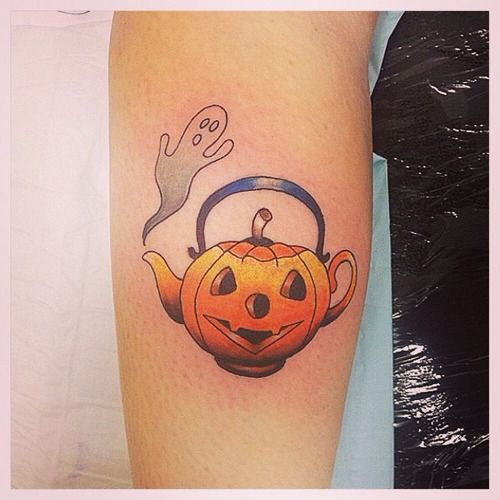 Cute Ghost Tattoo Designs Halloween tattoo that you'll