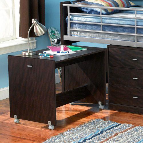 Charleston Storage Loft Bed with Desk, Espresso