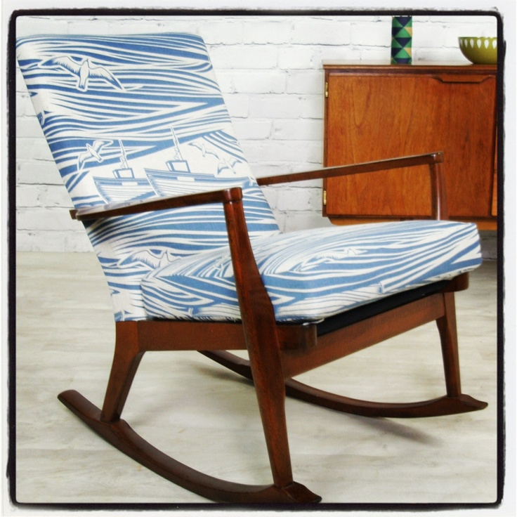 Parker knoll rocker in mini moderns Whitby fabric