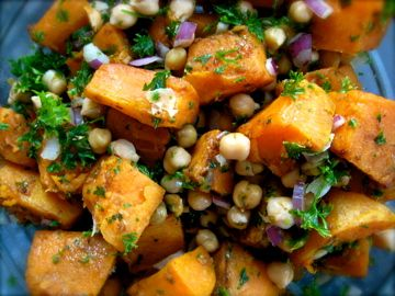 Warm Sweet Potato + Chickpea Salad – with Tahini Goddess Dressing ...