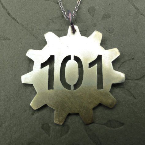 Fallout Vault Necklace. $18.00, via Etsy.