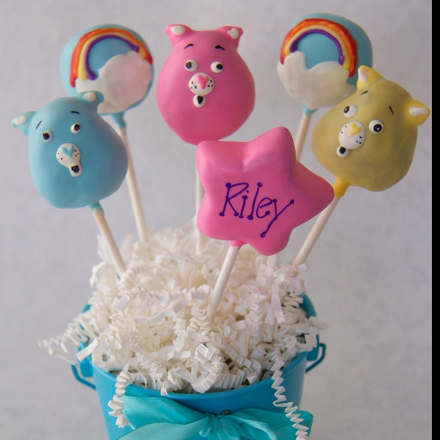Care Bears Cake Pops by theperfecttreats.com