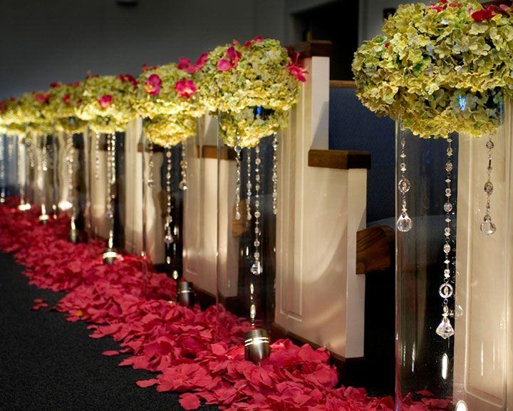 Pew decorations at the wedding ceremony weddings and for Aisle wedding decoration ideas