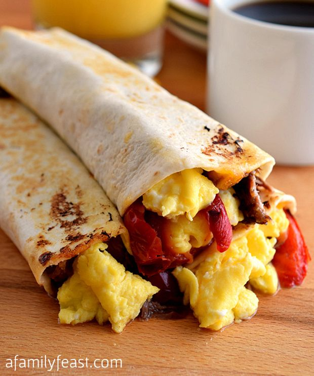 Breakfast-Burritos | I love foooood!!! | Pinterest