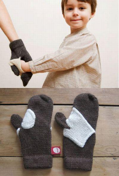 Cute idea! hand-holding mitten
