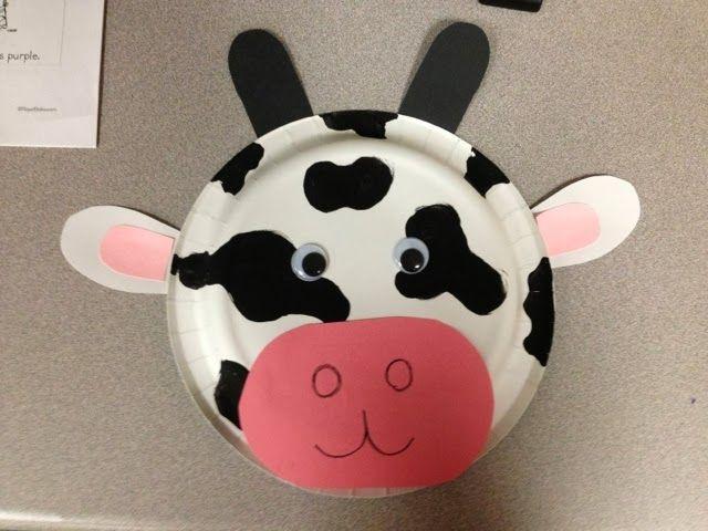 Farm Theme PreK - Cow mask from paper plate My Pre-K & Similiar Paper Plate Farm Animal Activities Keywords