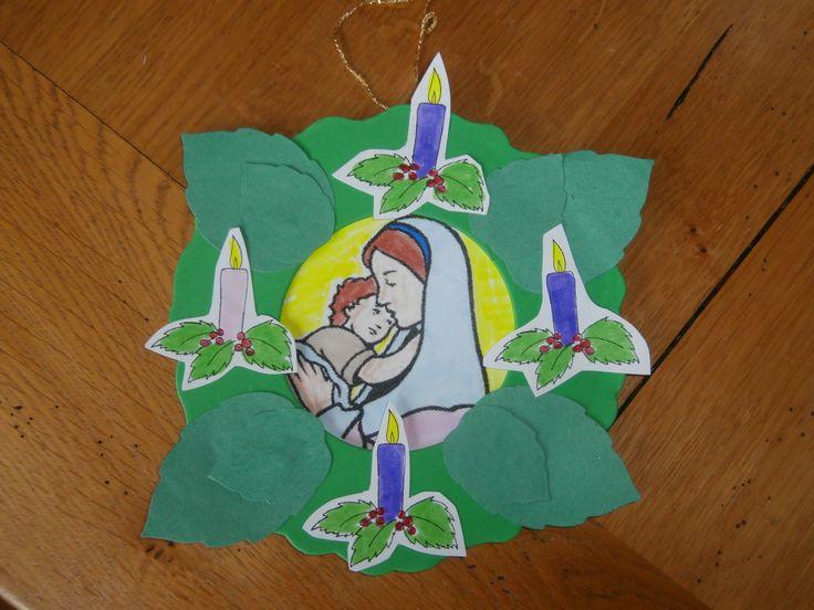 Advent wreath craft | Sunday School Craft | Pinterest