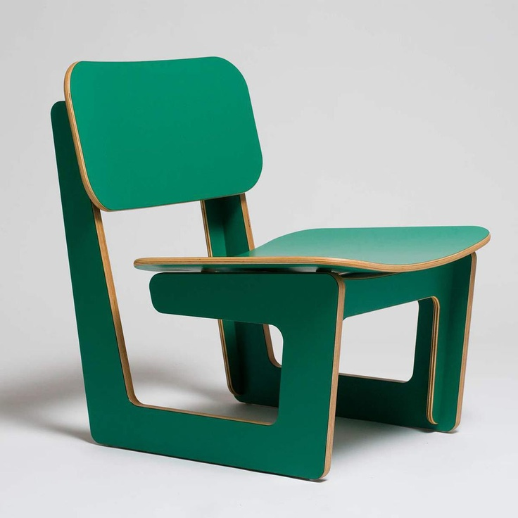 love this chair. Fab.com | Capital Chair Green
