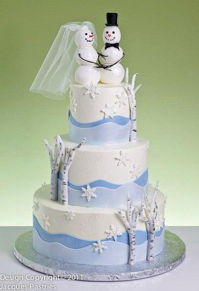 Winter Wedding Cake Design Ideas : snowman - winter wonderland - fun Winter #wedding #cake ...
