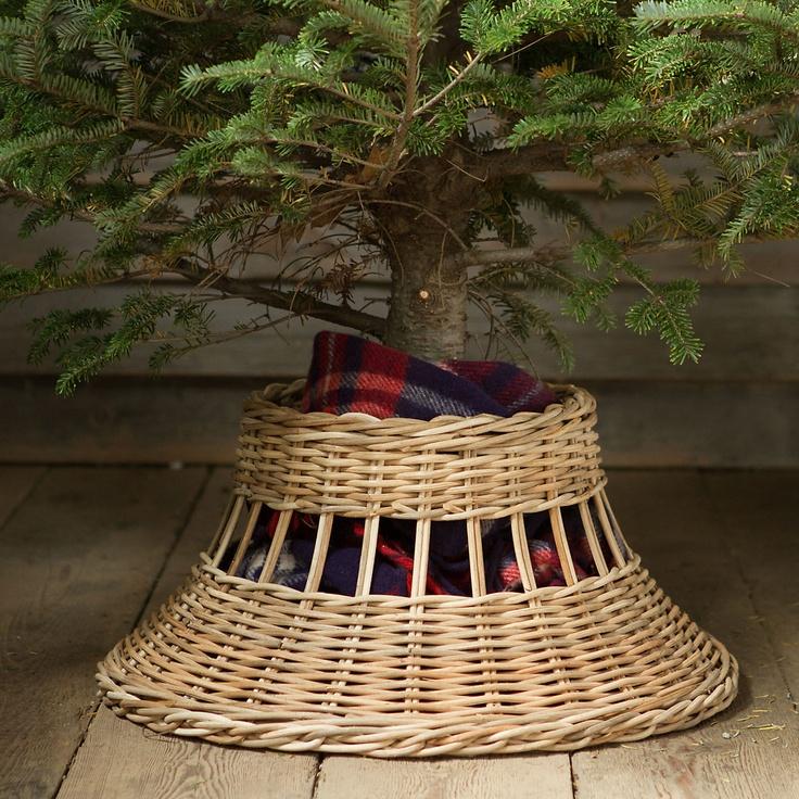 Wicker bell tree skirt