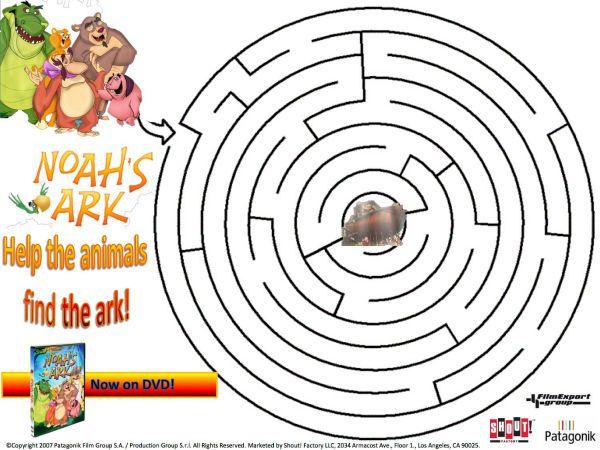 Noah's Ark Printable Maze | DIY & Crafts | Pinterest