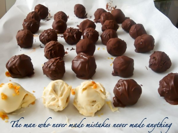 Carrot cake truffles...maybe not dipped in milk/dark chocolate though