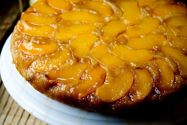 Peach Upside-Down Cake | Treats for Kiddos with Allergies | Pinterest