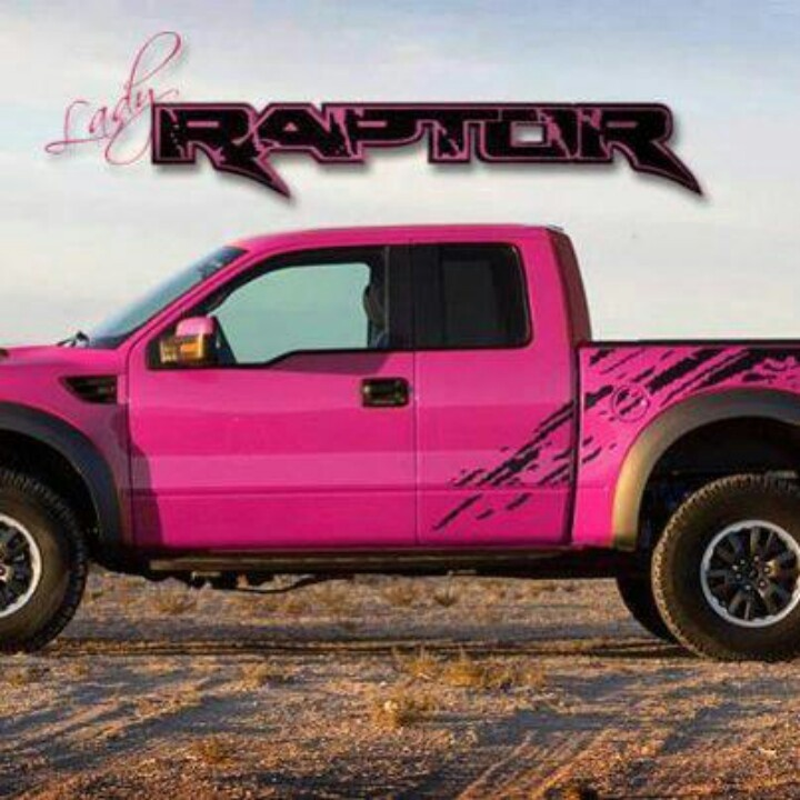 Pink Ford Truck Pink ford raptor truckJacked Up Pink Chevy Trucks
