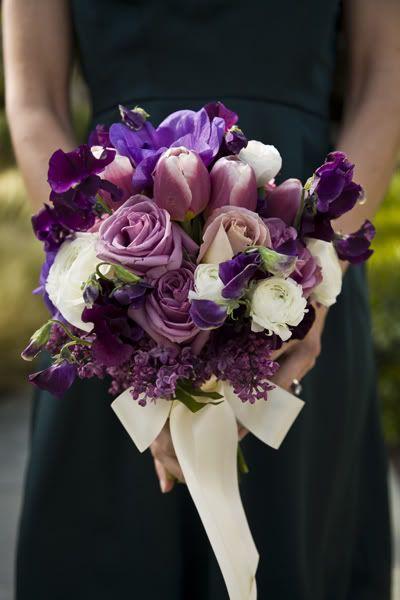 Wedding Bouquet Wedding Ideas Eggplant Theme Pinterest