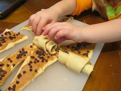 peanut butter chocolate crescents