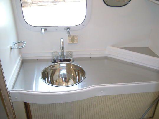 Custom airstream bathroom renovation airstream pinterest for Custom bathroom renovations