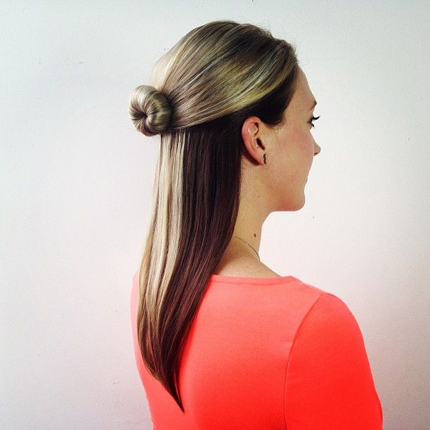Pictures Hair Highlights Ideas Lovely TwoTone Brunette Hair Style Of Two Tone Hair Color For ...