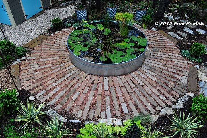 Stock Tank As A Simple Water Feature Garden Art And