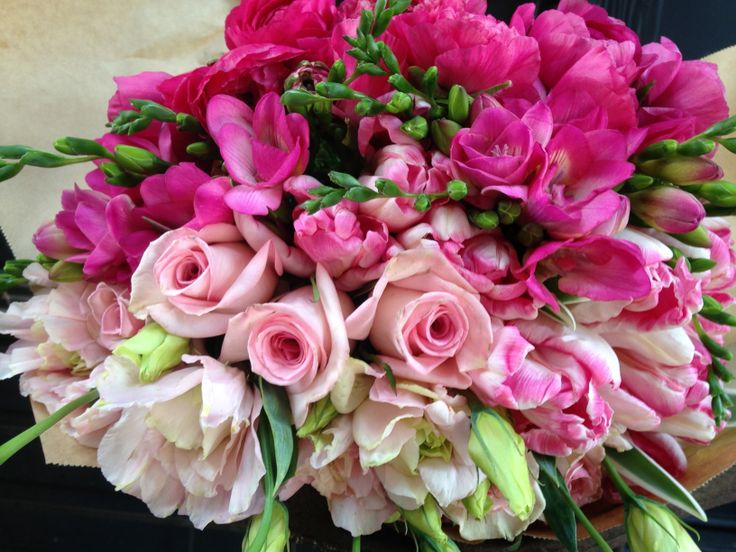 Pink ombre anniversary bouquet our wedding bouquets