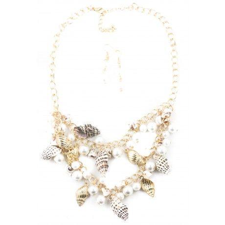 Sea Island Shell Necklace #nautical