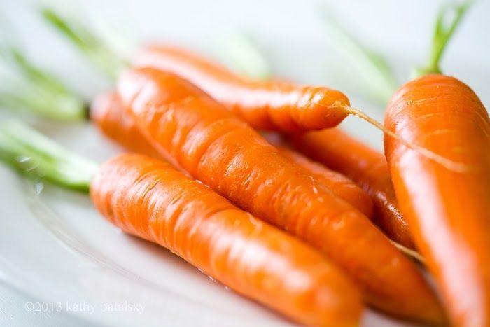 Citrus Maple Glazed Roasted Carrots + Tahini Brown Rice