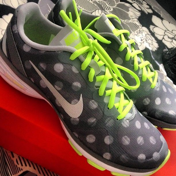 Lastest 27 Off Nike Shoes  Nike Grayneon Green Polka Dot Running Shoes From