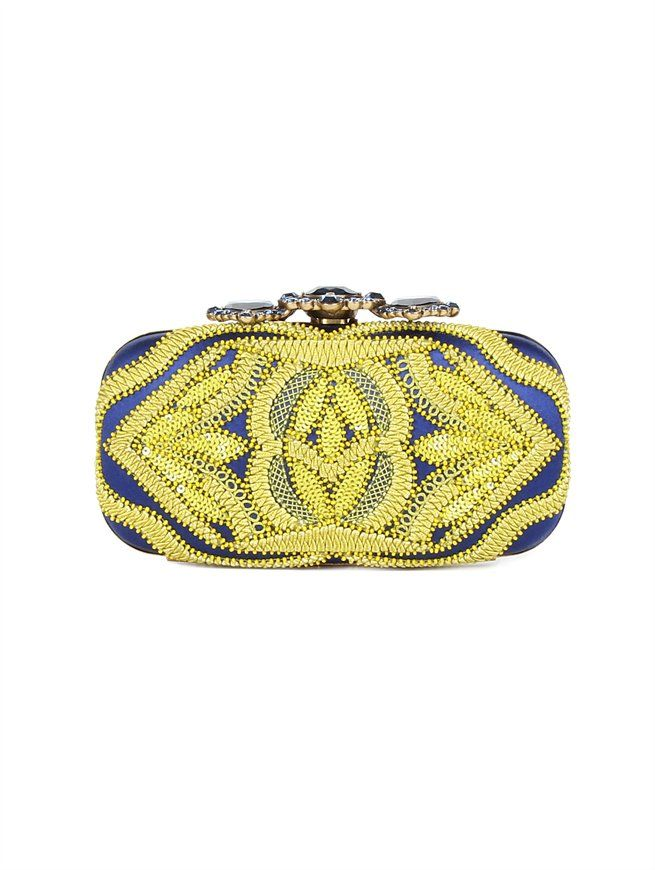CROWN GOA CLUTCH Oscar de la Renta