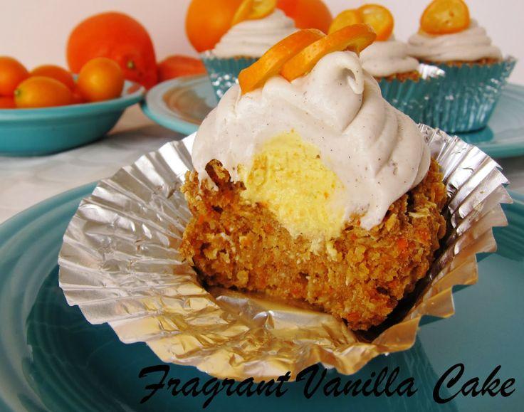 Fragrant Vanilla Cake: Raw Orange Carrot Cake Cupcakes