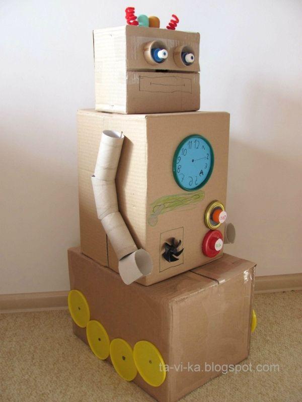 Сделать робота из картона своими руками 591