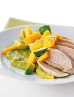 Cold Poached Chicken Avocado and Mango Mousseline | Recipe