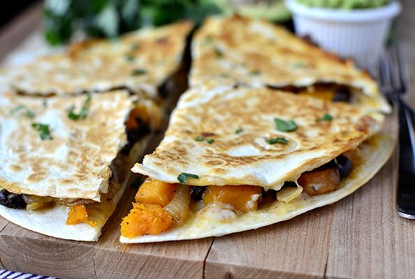 Black Bean & Butternut Squash Quesadillas with Lazy Girl's Guacamole ...
