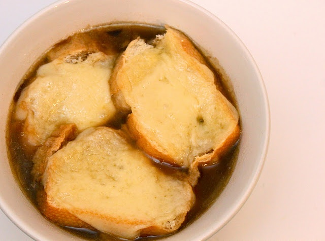 ... Kind of not so healthy but not too bad. Crock pot french onion soup