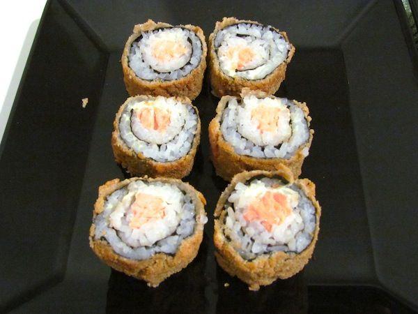 Hot Sushi Filadélfia receita de como fazer sushi frito em casa