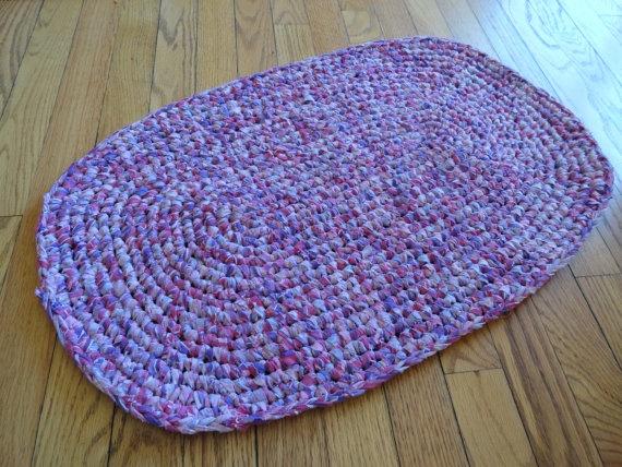 Free Crochet Pattern For Oval Rag Rug : Handmade Crochet Oval Rag Rug Crochet Pinterest
