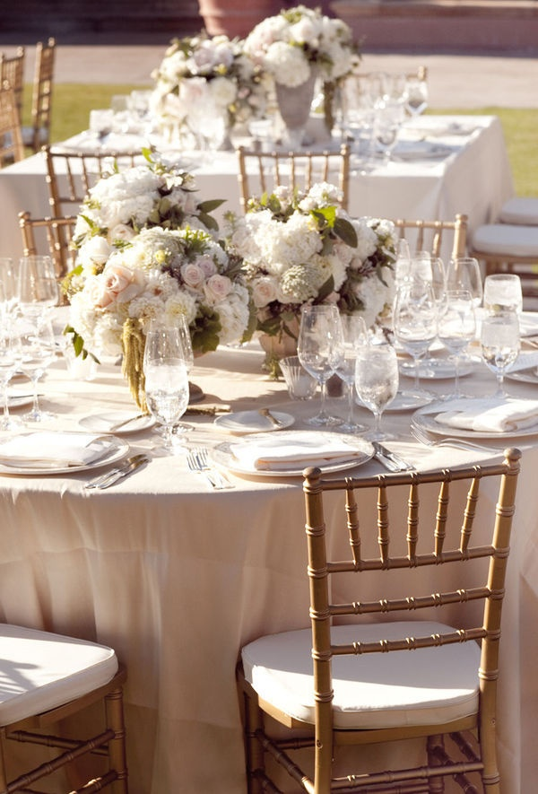 Romantic Table Setting Wedding Flowers Pinterest