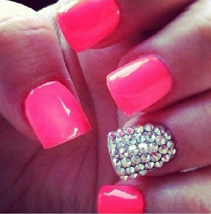 Perfect Pink And Glitter Nail Designs Elaboration - Nail Art Ideas ...