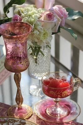pink goblet...