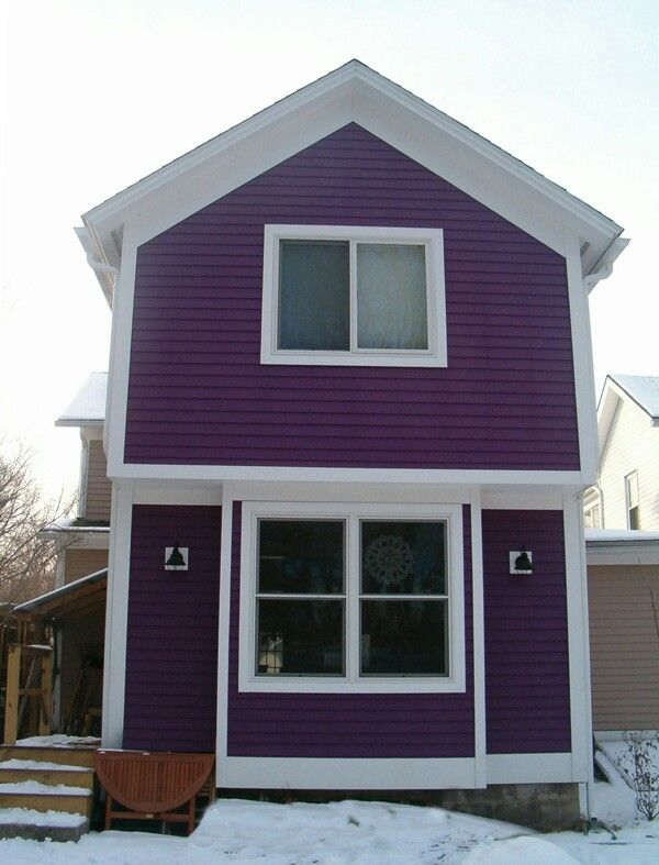 Purple house white trim curb appeal exterior colors under consid - Purple exterior paint image ...