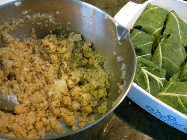Quinoa and Chickpea Salad Wraps. I'd wrap in Kale or Chard though