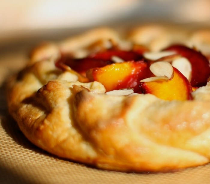 plum and peach galette | Pies, Tarts & Cobblers | Pinterest