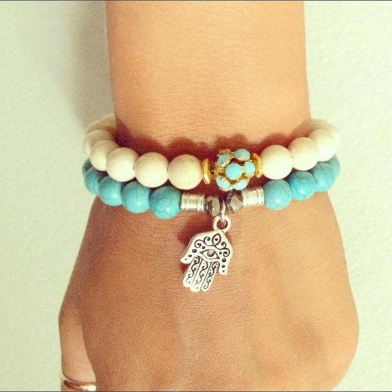 Riverstone Semi Precious Stone bracelet and by TiffanyJazelle, $89.99