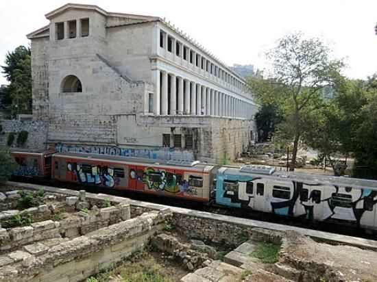 Agora (These ruins, located in the heart of modern Athens ...