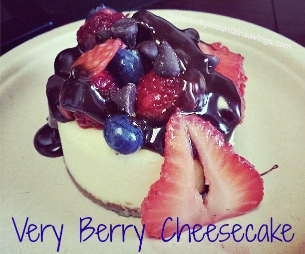 Very Berry Cheesecake http://www.rockymountainsavings.com #recipes