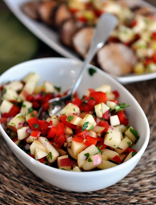 ... Cafe | Cinnamon and Chili Pork Tenderloin with Fresh Apple Salsa