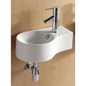 bowl left facing bathroom sink in white ec9849 l at the home depot