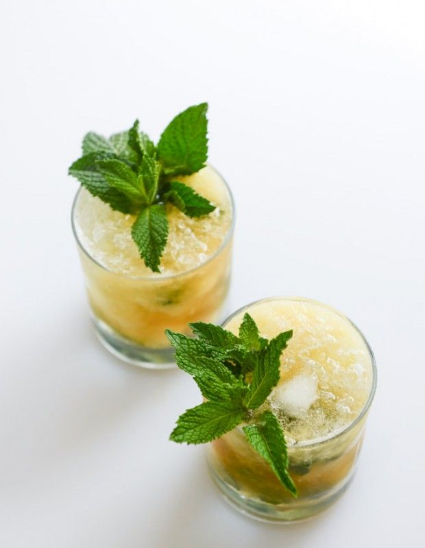 Pineapple Mint Julep from How Sweet Eats, featured on Sparker's ...